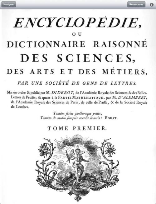 ARTFL's Encyclopédie app