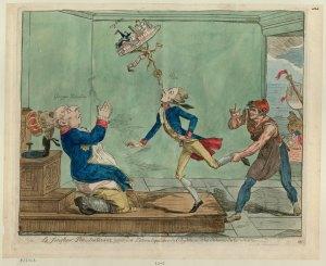 Godefroy, François, 'Le Jongleur Pitt, soutenant avec une loterie l'équilibre de l'Angleterre et les subsides de la coalition', 1794, BnF.